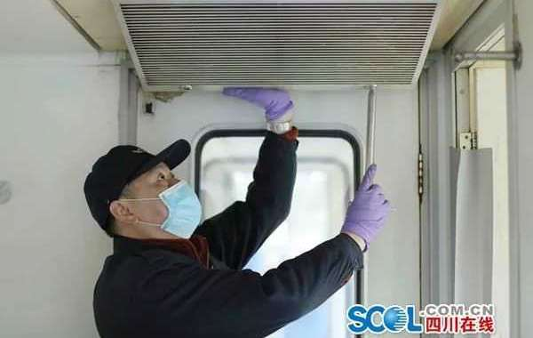 """列车""""口罩""""消毒,成都车辆段每天消杀1500多个滤网"""