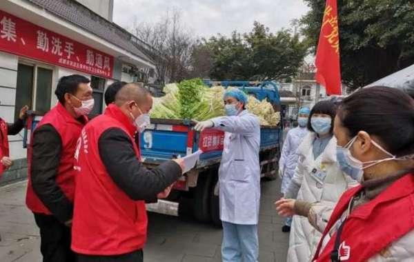 双流黄龙溪镇:同心抗疫 温暖一线 村民自购万斤蔬菜送到抗疫一线
